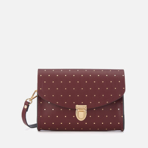 The Cambridge Satchel Company Women's Push Lock Bag - Gold Dot Oxblood