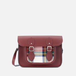 The Cambridge Satchel Company Women's 11 Inch Magnetic Satchel - Oxblood Tartan
