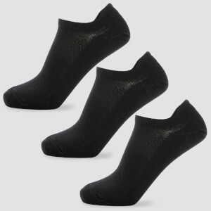 MP Men's Essentials Ankle Socks - Black (3 Pack)