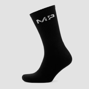 Myprotein Men's Core Crew Socks (2 Pack) - Black