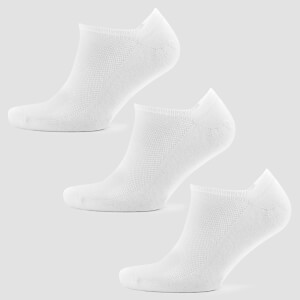 Essentials Men's Ankle Socks - White (3 Pack)