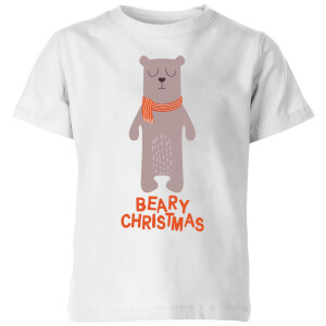 Beary Christmas Kids' T-Shirt - White