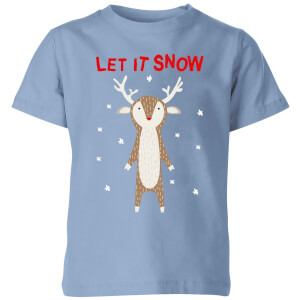 Let It Snow Kids' T-Shirt - Sky Blue
