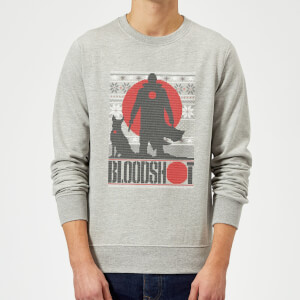 Valiant Bloodshot Holiday Sweatshirt - Grey
