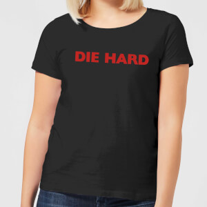 Die Hard Logo Women's Christmas T-Shirt - Black