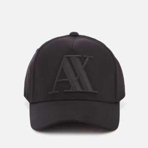 Armani Exchange Men's Rubber Logo Cap - Black