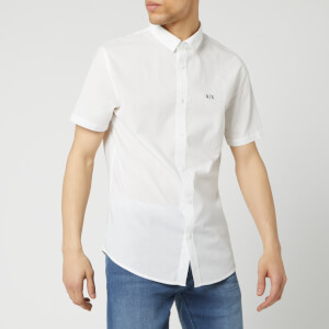 Armani Exchange Men's Short Sleeve Shirt - White