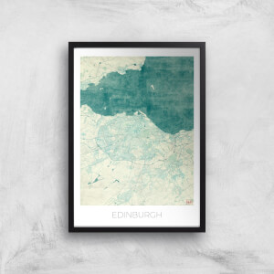 City Art Coloured Edinburgh Map Art Print