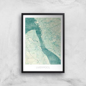 City Art Coloured Liverpool Map Art Print
