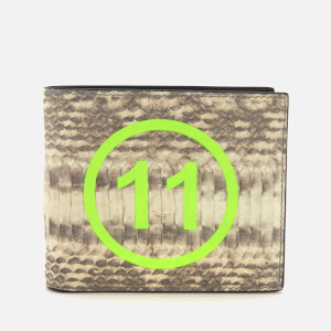 Maison Margiela Men's Snake and Fluro Bifold Wallet - Roccia/Giallo Fluo