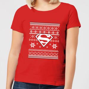 DC Superman Women's Christmas T-Shirt - Red