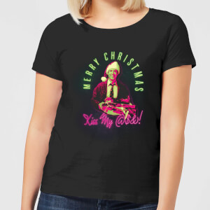 National Lampoon Merry Christmas Clark Griswold Women's Christmas T-Shirt - Black