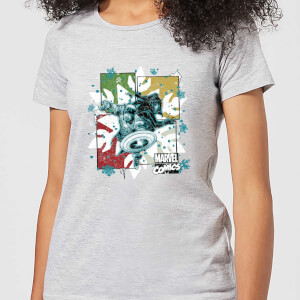 T-Shirt Marvel Black Widow Captain America - Grigio - Donna
