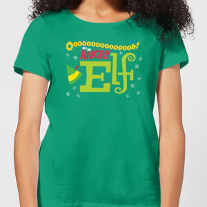 T-Shirt Elf Angry Elf Christmas - Kelly Green - Donna