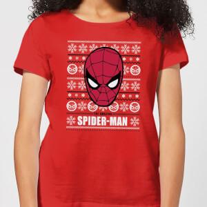 Marvel Spider-Man Women's Christmas T-Shirt - Red