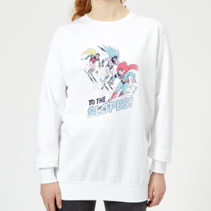 DC To The Slopes! Women's Christmas Sweatshirt - White