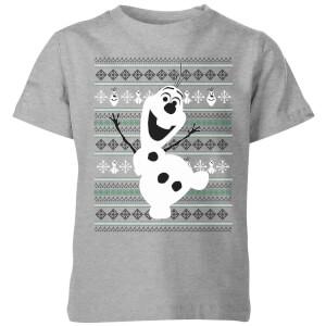 T-Shirt Disney Frozen Olaf Dancing Christmas - Grigio - Bambini