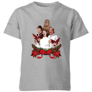 Star Wars Jedi Carols Kids' Christmas T-Shirt - Grey