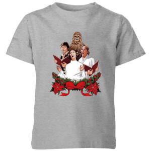 T-Shirt Star Wars Jedi Carols Christmas- Grigio - Bambini