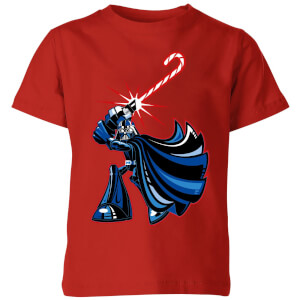 Star Wars Candy Cane Darth Vader Kids' Christmas T-Shirt - Red