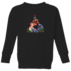 Star Wars Mistletoe Kiss Kids' Christmas Sweatshirt - Black