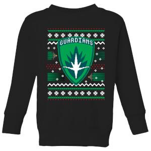Guardians Of The Galaxy Badge Pattern Christmas Kids' Christmas Sweatshirt - Black