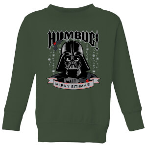Star Wars Darth Vader Humbug Kids' Christmas Sweatshirt - Forest Green
