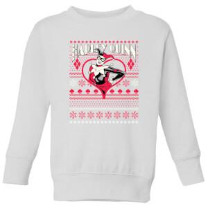 DC Harley Quinn Kids' Christmas Sweatshirt - White