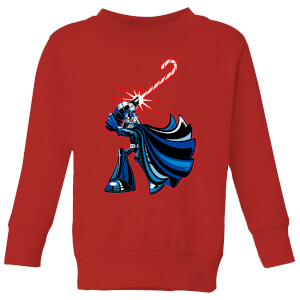 Star Wars Candy Cane Darth Vader Kids' Christmas Sweatshirt - Red