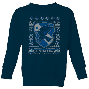 Harry Potter Ravenclaw Crest Kids' Christmas Sweatshirt - Navy