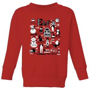 Elf Kids' Christmas Sweatshirt - Red