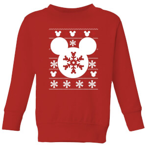 Disney Snowflake Silhouette Kids' Christmas Sweater - Red