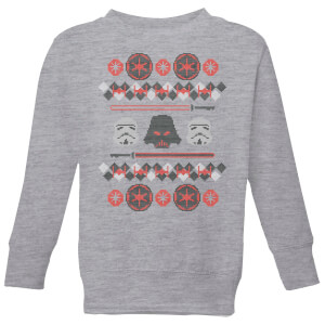 Star Wars Empire Knit Kids' Christmas Sweatshirt - Grey from I Want One Of Those