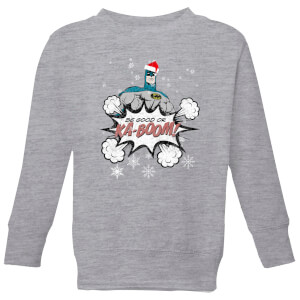 DC Batman Be Good Kids' Christmas Sweatshirt - Grey from I Want One Of Those