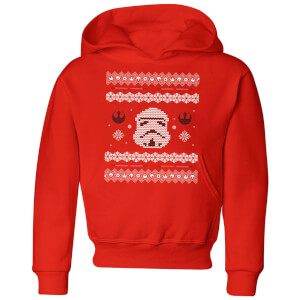 Star Wars Stormtrooper Knit Kids' Christmas Hoodie - Red