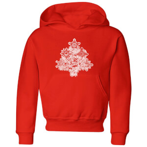 Marvel Shields Snowflakes Kids' Christmas Hoodie - Red
