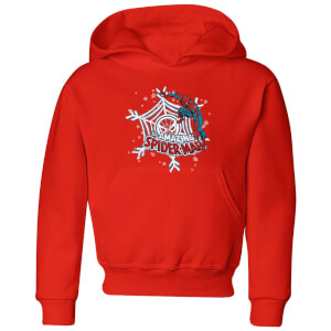 Marvel Spider-Man Kids' Christmas Hoodie - Red
