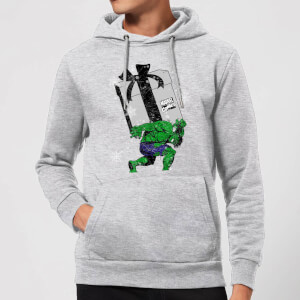 Marvel The Incredible Hulk Christmas Present Christmas Hoodie - Grey