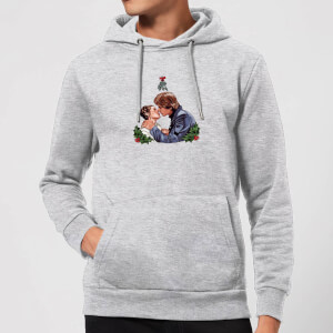 Star Wars Mistletoe Kiss Christmas Hoodie - Grey