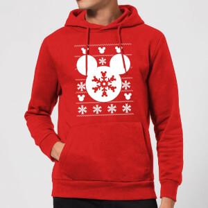 Disney Snowflake Silhouette Christmas Hoodie - Red