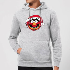 The Muppets Animal Christmas Hoodie - Grey