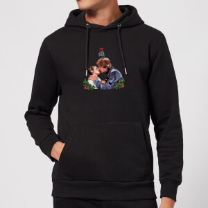Star Wars Mistletoe Kiss Christmas Hoodie - Black