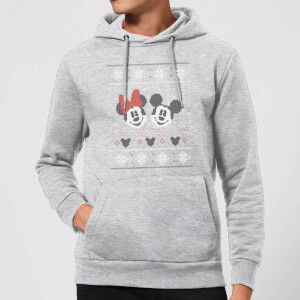 Disney Mickey and Minnie Christmas Hoodie - Grey