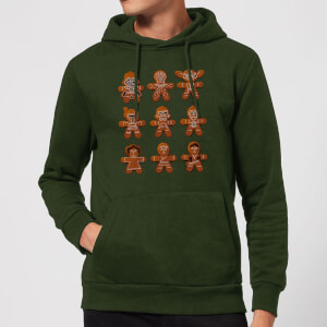 Felpa con cappuccio Star Wars Gingerbread Characters Christmas - Forest Green