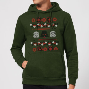 Star Wars Empire Knit Christmas Hoodie - Forest Green