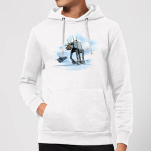 Star Wars AT-AT Reindeer Christmas Hoodie - White