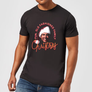 National Lampoon Fun Old Fashioned Family Christmas Men's Christmas T-Shirt - Black