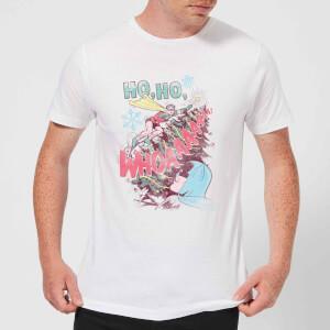 DC Ho Ho Whoaaaaaaa Herren Christmas T-Shirt - Weiß