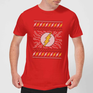 DC Flash Knit Men's Christmas T-Shirt - Red