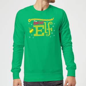 Elf Angry Elf Christmas Sweatshirt - Kelly Green